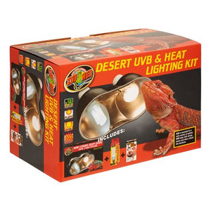Zoo Med Desert UVB & Heat Lighting Kit