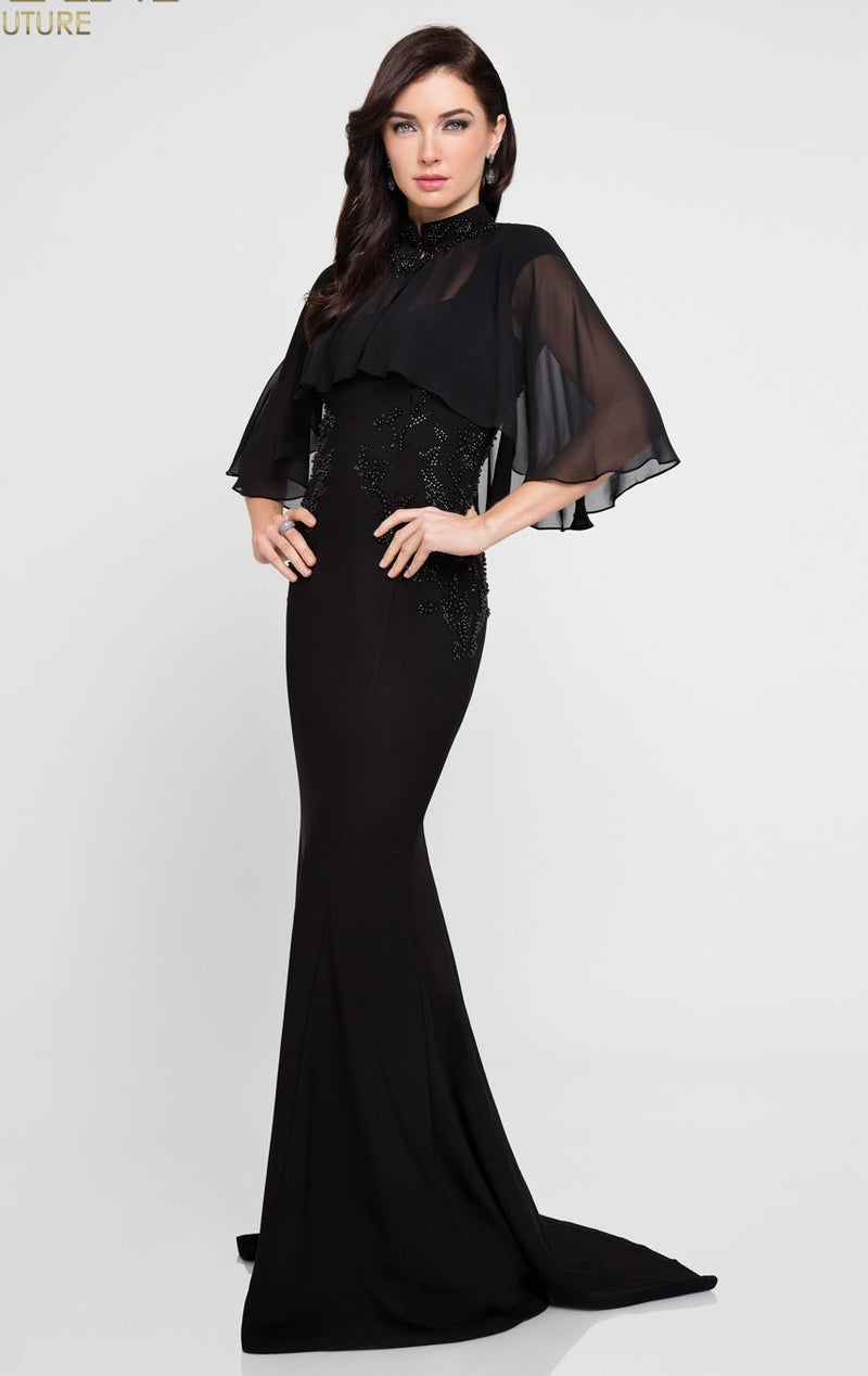 TERANI BLACK FULL LENGTH GOWN