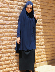 NAVY JILBAB WITH SLEEVES