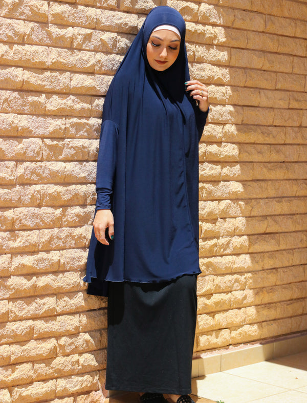 BLUE JILBAB WITH SLEEVES