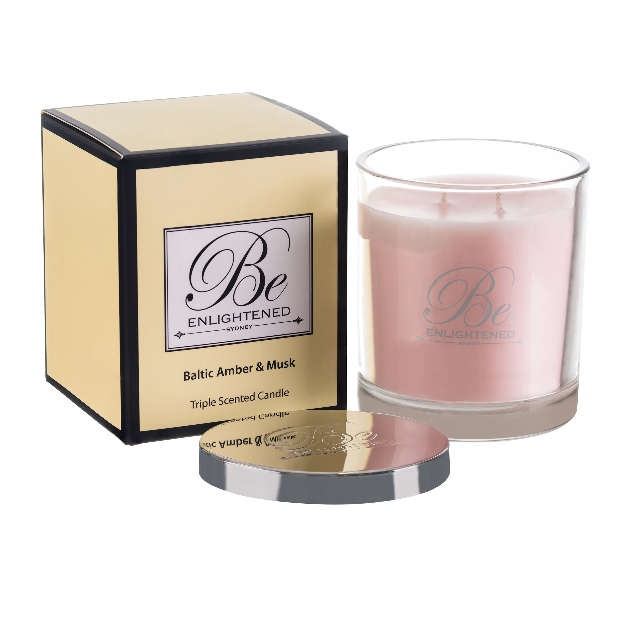 BE ENLIGHTENED CANDLE BALTIC AMBER & MUSK