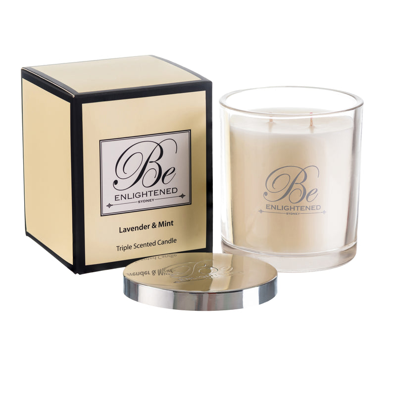 BE ENLIGHTENED CANDLE LAVENDER & MINT