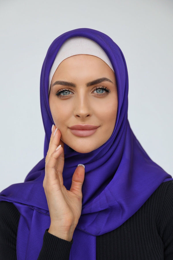 PURPLE SHOT CHIFFON SQUARE HIJAB