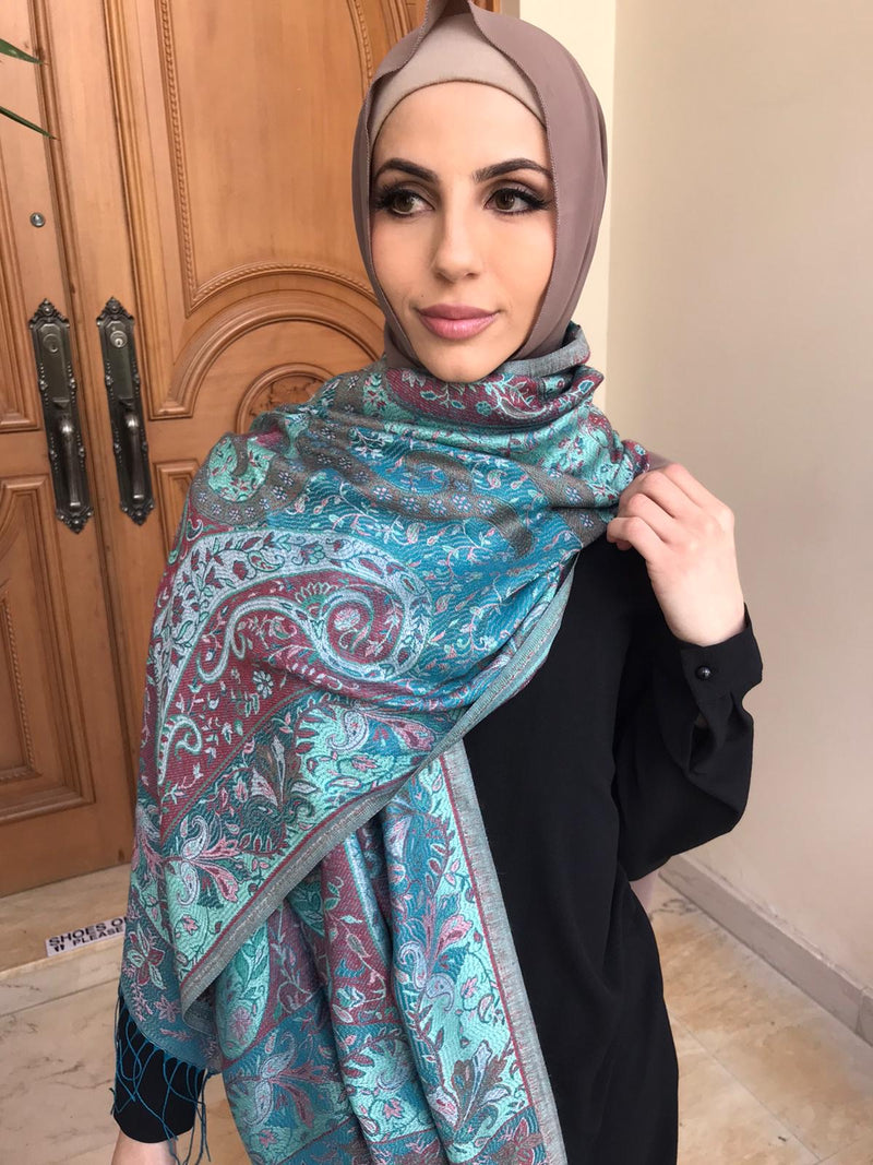 CRAFTED GREEN OAK PASHMINA