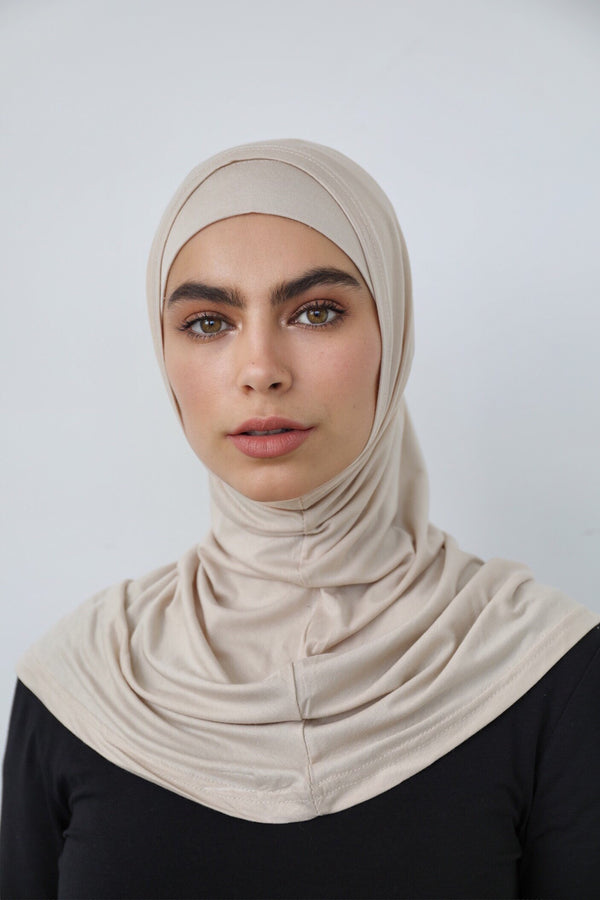 2 PIECE BEIGE COTTON SCARF