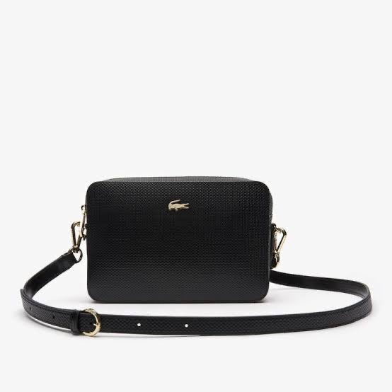 LACOSTE BLACK SQUARE CROSSOVER BAG