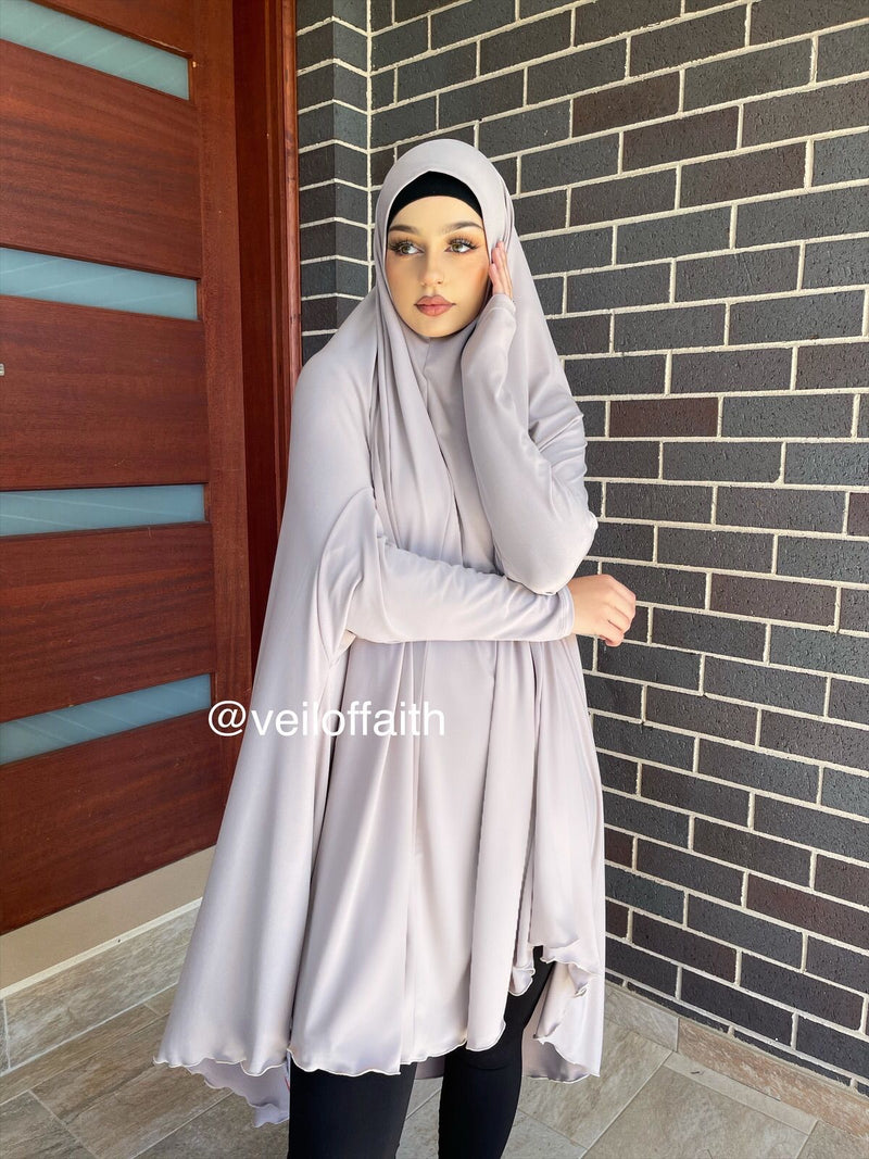 STONE JILBAB WITH SLEEVES