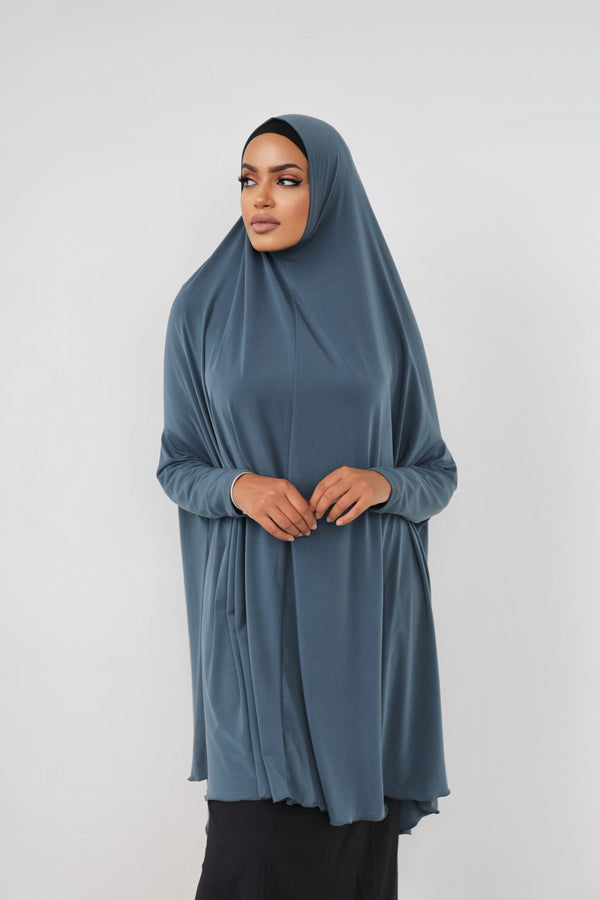 PETROL JILBAB WITH SLEEVES