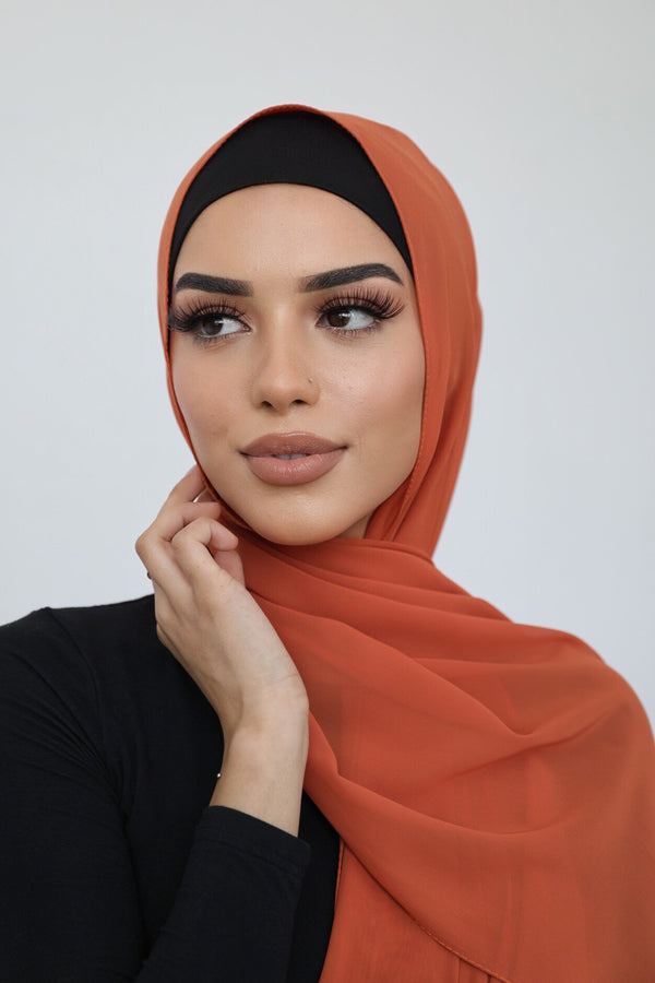 ORANGE CHIFFON SHAWL