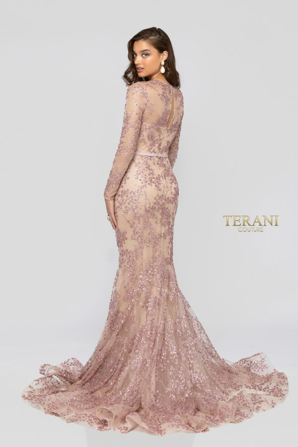 TERANI ROSE NUDE DRESS