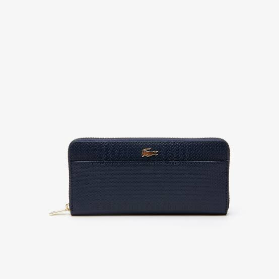 LACOSTE NAVY ZIP WALLET