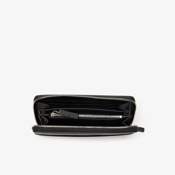 WOMEN'S CROCO CREW LARGE ZIP WALLET