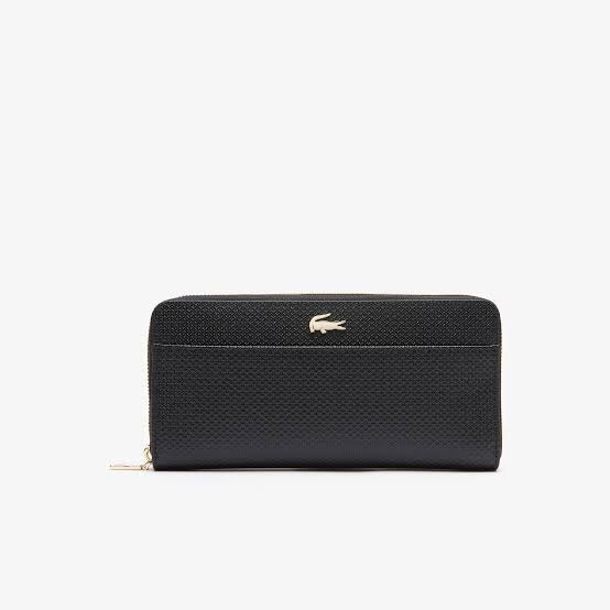 LACOSTE BLACK ZIP WALLET