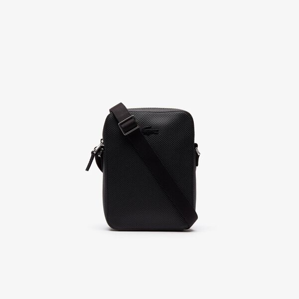 LACOSTE VERTICAL BLACK CAMERA BAG
