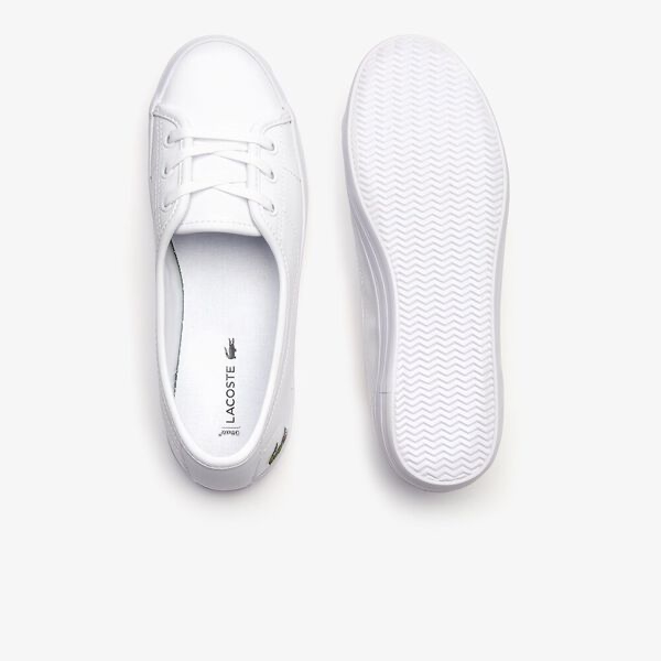 LACOSTE ZIANE CHUNKY WHITE LEATHER