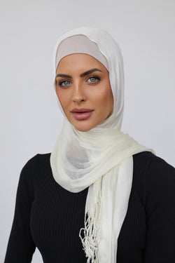 SOFT CREAM FINE SCARF