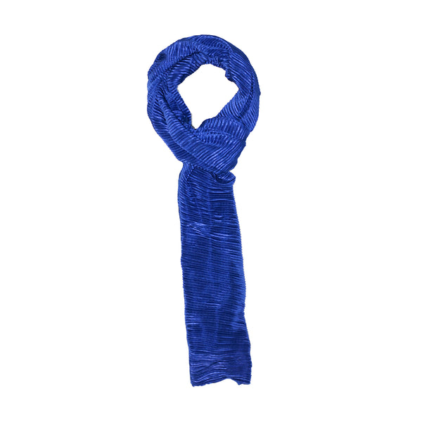 DARK BLUE PLEATED SCARF