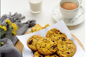 COOKIES DE CAFÉ, CHOCOLATE Y NUECES