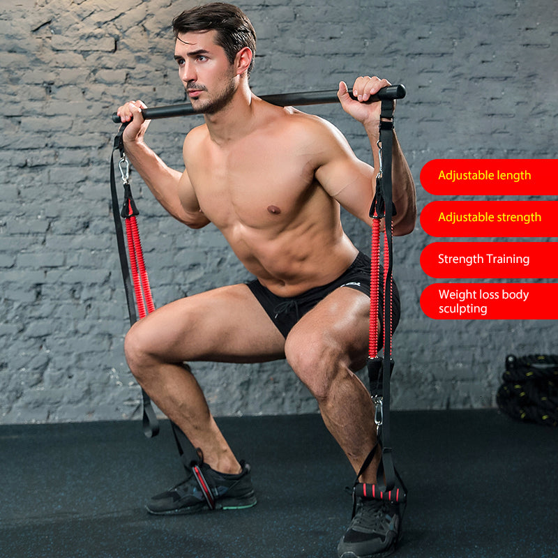 Training Bar With Resistance Bands