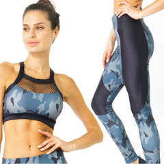 Veloso Supplex Moisture-Resistant Fashion Leggings & Sports Bra Set