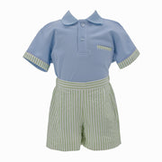 Blue Bird Boy Polo Set