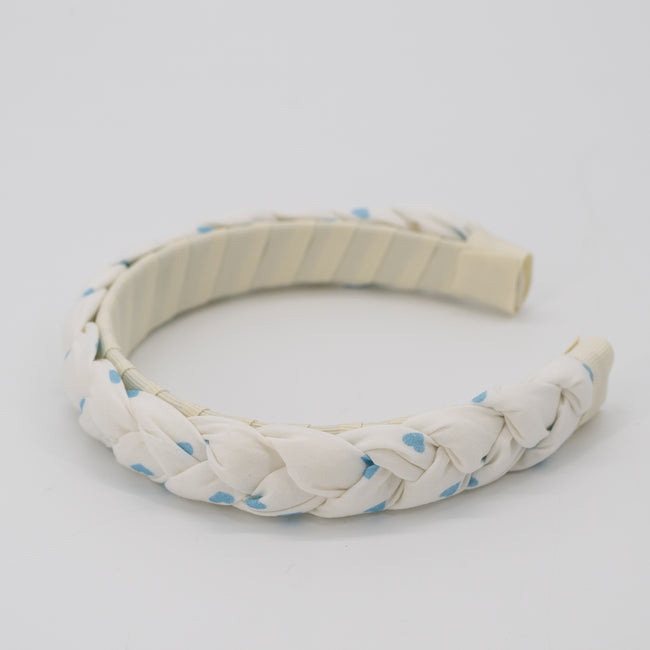 Be Mine Braided Headband - Blue