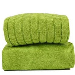 Ribbed Cotton Knee Sock - Granny Smith Green
