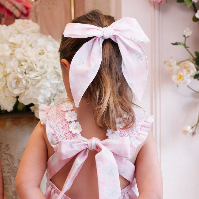 Daisy Love Bow - Pink