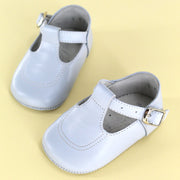 Classic + Stitch Baby Shoe Light Blue