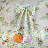 Child Bow Mask - Pink Pumpkin