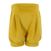 Amber Shorts - Yellow Velvet