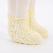 Crochet Anklet Sock - Butter