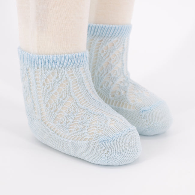Crochet Anklet Sock - Light Blue
