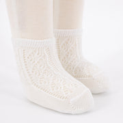 Crochet Anklet Sock - White