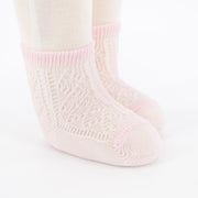 Crochet Anklet Sock - Light Pink