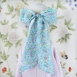 Adult Bow Mask - Aqua Floral