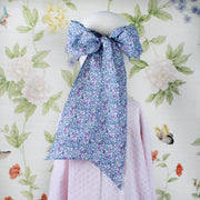 Adult Bow Mask - Blue Floral