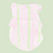 Green/Pink Stripe Dog Swim Shirt