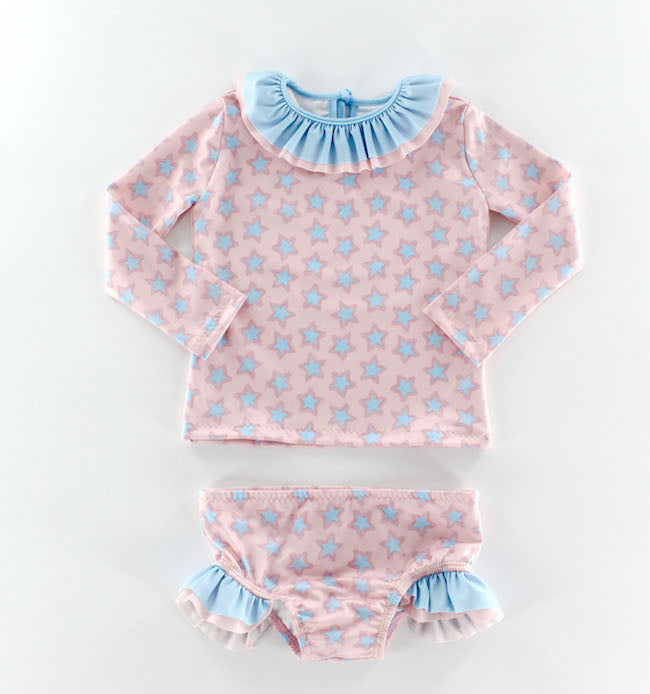 Starfish Girl Rashguard Set