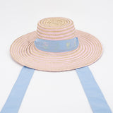 Women's Riley Hat Sash - Light Blue