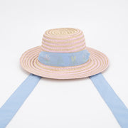 Child Riley Hat Sash - Light Blue