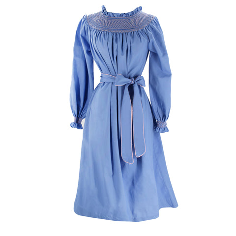 Women's Margaux Dress - Blue/Light Pink
