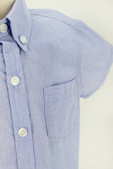 Blue Nautical Button Down