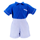 Blue Nautical Polo Set