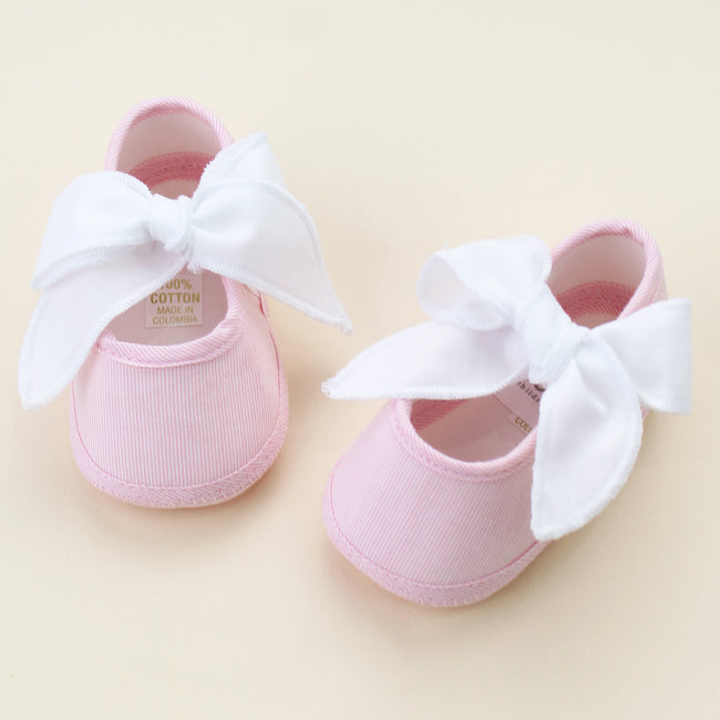 Pink Nautical Baby Shoes