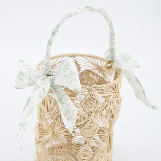 Lily of the Valley Basket Bow Wrap