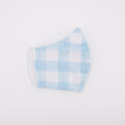 Daisy Love Plain Blue Gingham - Adult Regular Mask