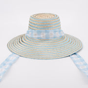 Women's Daisy Love Hat Sash - Blue
