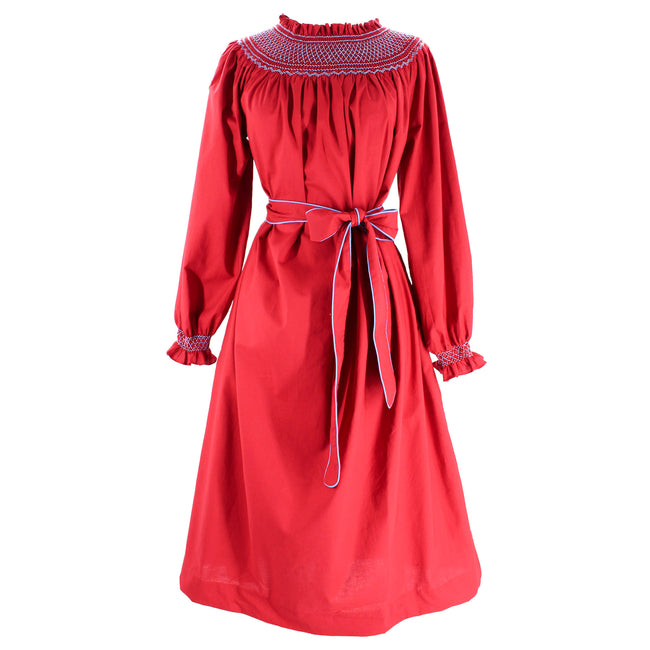 Women's Margaux Dress - Red/Light Blue