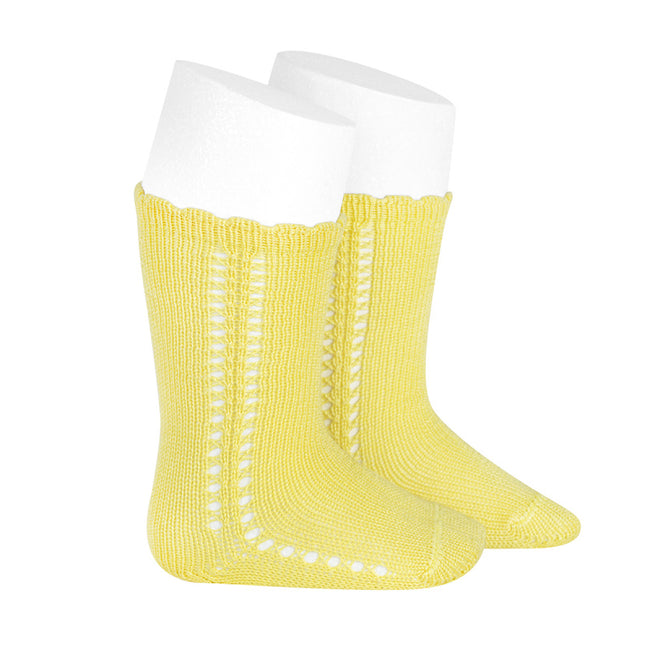 Crochet Knee Sock - Yellow
